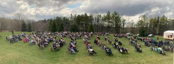 Picture of outdoor worship. April 11, 2021